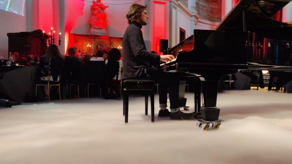 Droogijs effect bij piano