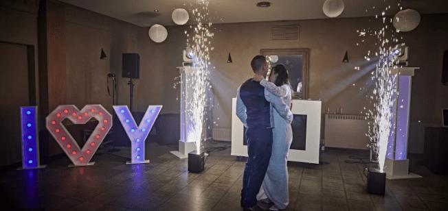 Sparkular effect op bruiloft